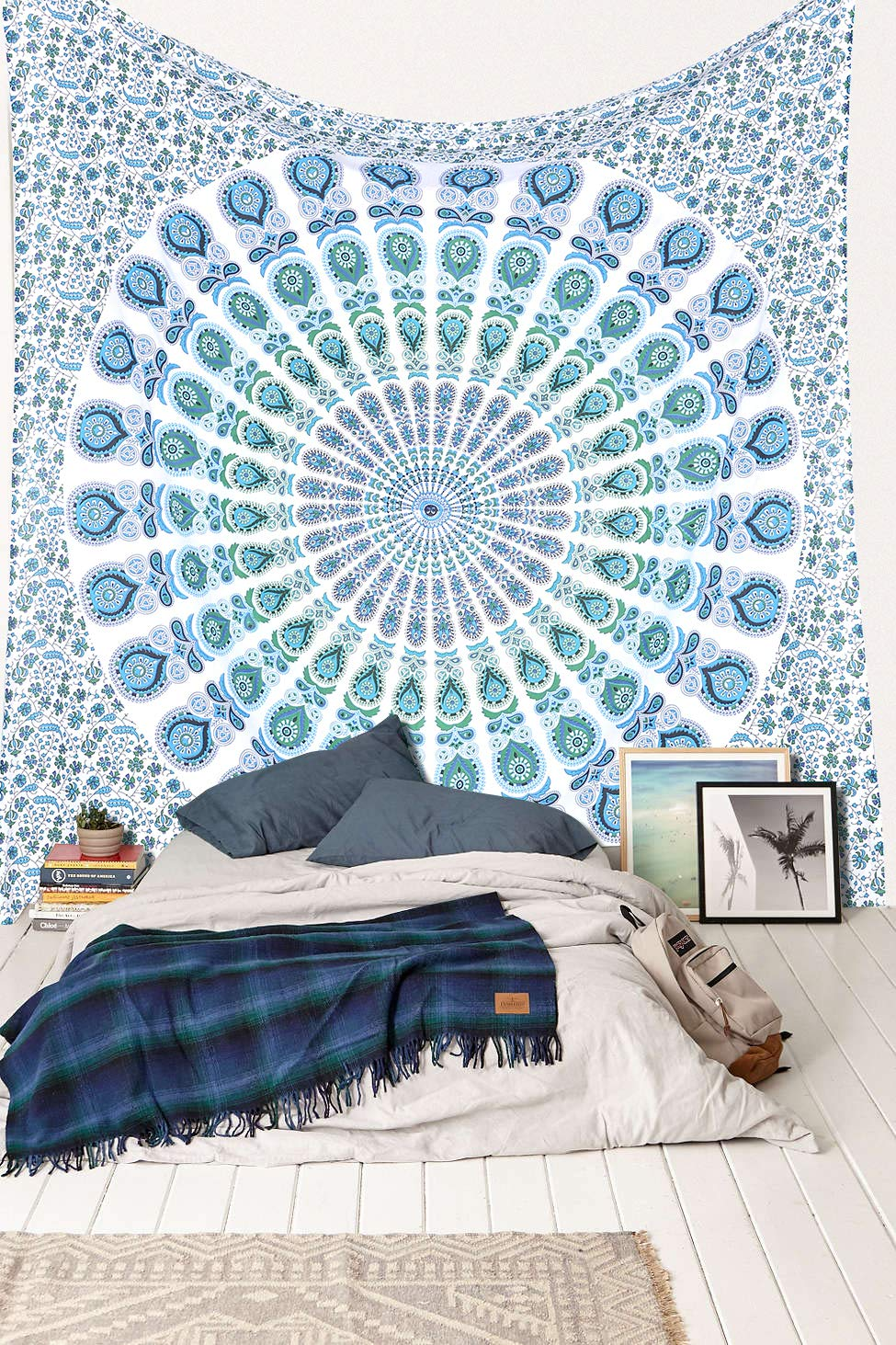 Bedspread Decorative Indian Mirchi Wall Hanging Queen and King Size Tapestry Ambika Designs 100/% Cotton Mandala Art Handmade Hippi Bohemian