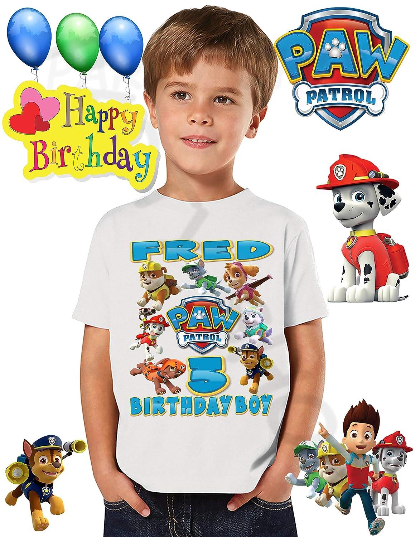 PAW PATROL BIRTHDAY SHIRT T SHIRTS Paw Patrol Birthday PartyADD Any Name And Age FAMILY Matching Shirts Boys ShirtsPaw Shirt