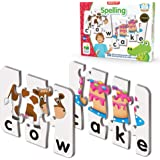 The Learning Journey: Match It! - Spelling - 20 Self-Correcting Spelling Puzzle for Three and Four Letter Words with Matching