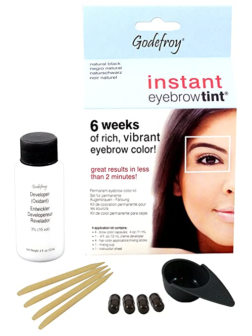 Buy Godefroy Instant Eyebrow Tint Natural Black Online At Low Prices