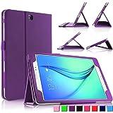 Infiland Samsung Galaxy tab A 9.7 Funda Case-Folio PU Cuero Cascara Delgada con Soporte para Samsung Galaxy Tab A 9.7 T550N/ T555N 24,6 cm WiFi/LTE Tablet-PC (9,7 pulgadas) (con Auto Reposo / Activación Función)(Púrpura)