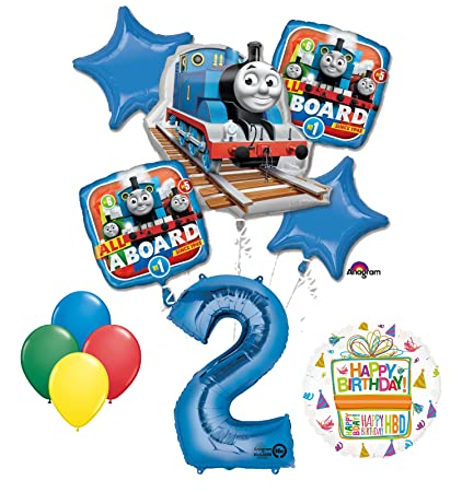 Superb The Ultimate Thomas The Train Engine 2Nd Birthday Party Supplies And Balloon Decorations Home Interior And Landscaping Sapresignezvosmurscom