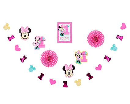 Astonishing Amazon Com American Greetings Minnie Mouse 1St Birthday Download Free Architecture Designs Intelgarnamadebymaigaardcom