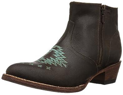 c8fd008d1 Ferrini Women s Aztec Bootie Ankle Boot Dark Chocolate 6