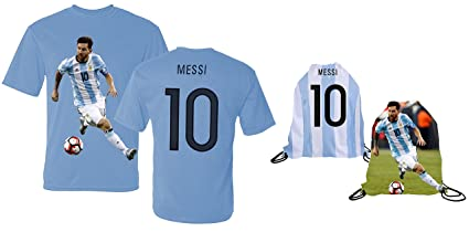 386c5f643 Messi Jersey Style T-shirt Kids Argentina Lionel Messi Jersey T-shirt Gift  Set Youth Sizes ✓ Premium Quality ✓ Lightweight Breathable ✓ Soccer  Backpack ...