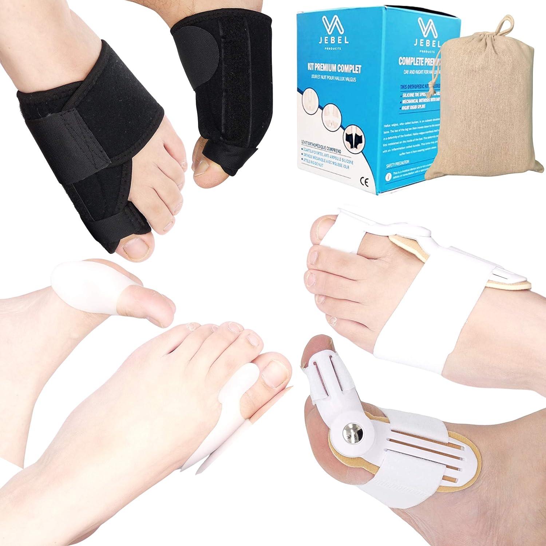 Kit completo Premium 3 pares Día y Noche para Hallux Valgus (Cebolla): Ortesis, férula y protección de pies para zapatos de silicona. Esparcidor, separador, enderezador, corrector de postura de los de