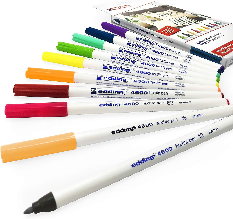 Staedtler Laundry Marker Pen Textile Black Marker Permanent Marker Pack of 10