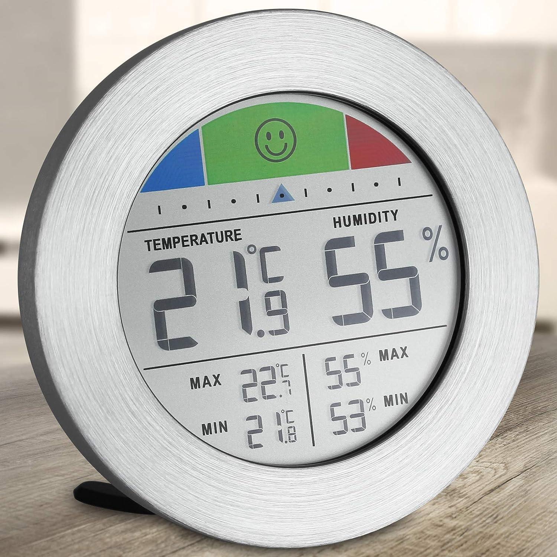 Digitales Hygrometer und Thermometer Feuchtigkeitsmessger/ät Temperaturmessger/ät Feuchtigkeitsmesser Raumthermometer Luftfeuchtigkeitsmessger/ät