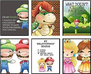 Plumbers Need Love Too - Video Gamer Room Wall Art Prints Decor (Dear Mario)