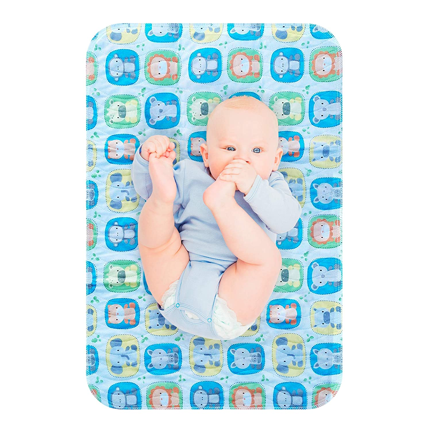 Baby/ Nappy/ Changing/ pad Mattress Pads Washable Foldable Breathable Cartoon Strong Absorbent Waterproof Cute for Babies Children Women Portable Grey