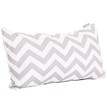 majestic home goods chevron pillow small gray