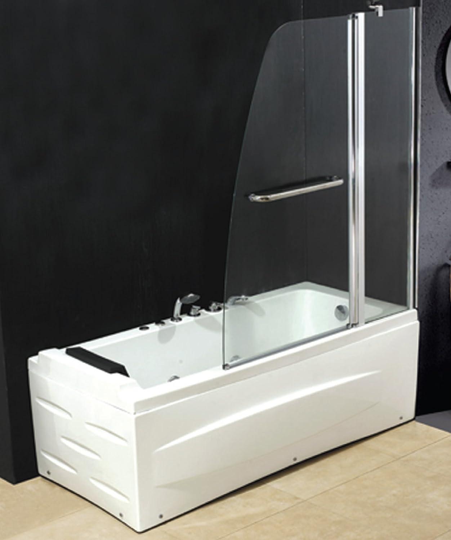 Pared de cristal de 6 mm para bañera.140 x 120 cm.: Amazon.es: Bricolaje y herramientas