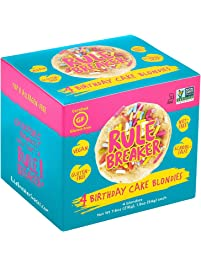 Rule Breaker Snacks, Birthday Cake Blondie, Vegan, Gluten Free, Nut Free, Allergy Friendly, Kosher, Individually Wrapped...