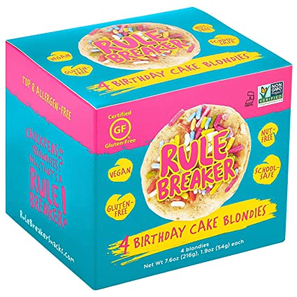 Rule Breaker Snacks, pastel de cumpleaños, saludable e ...
