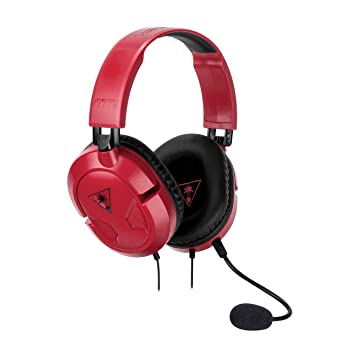 Turtle Beach - Recon 50 Rojo Auriculares Gaming Para (PC, Nintendo Switch, PS4