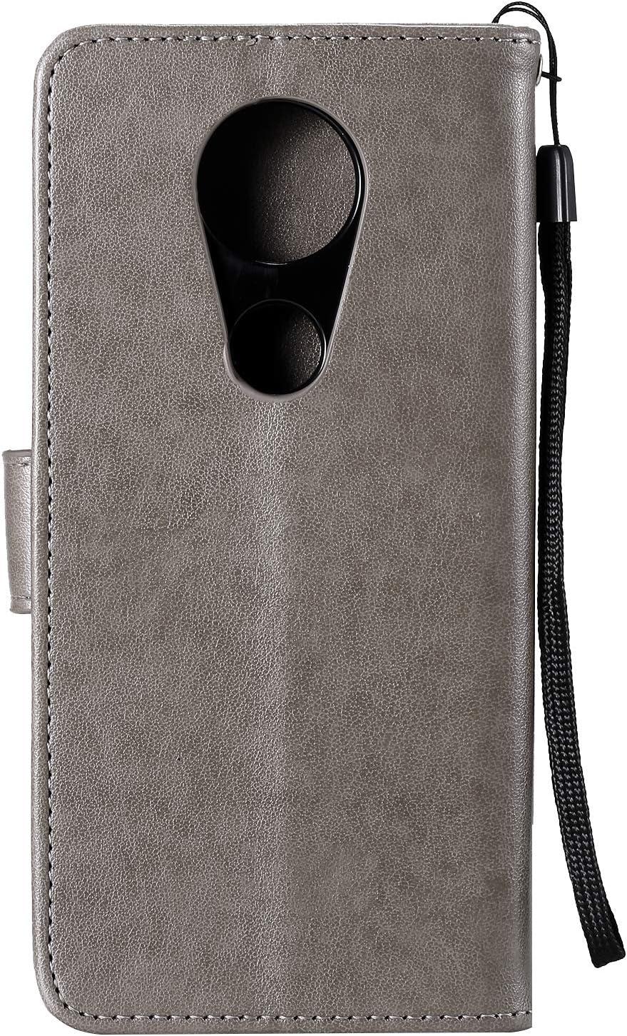 Lomogo Embossed Owl Moto E5 Plus Case Leather Wallet Case with Kickstand Card Holder Shockproof Flip Case Cover for Motorola Moto E Plus 5th Gen LOHHA100705 Rose Gold