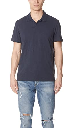 784627a25 Amazon.com: Theory Mens Willem Polo Shirt with Johnny Collar: Clothing
