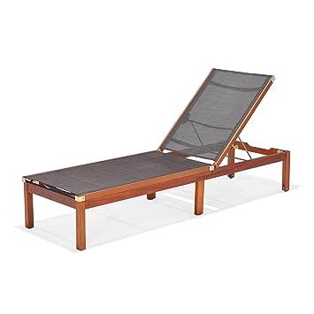 Amazonia Manhattan Patio Chaise Lounger, Brown
