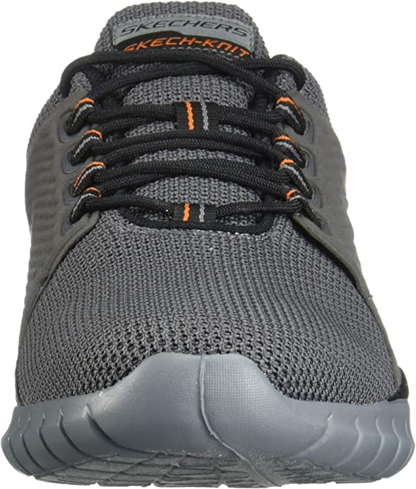 Skechers Overhaul Primba 52821W Mens Gray Wide Mesh Athletic Running Shoes