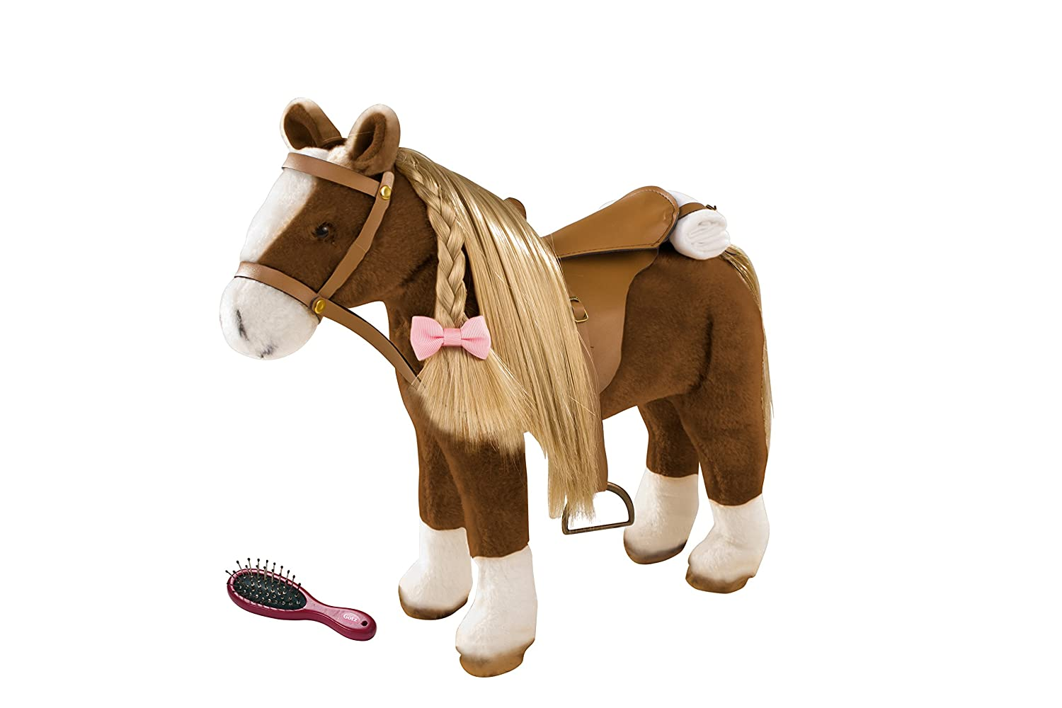 Götz 3402375Brown Plush Horse With A Height of Approximately37cm And A Total Height Of Approximately52cm For Dolls - For Children From 3 Years