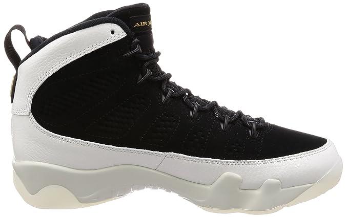 separation shoes cc5f9 42a1f Amazon.com   Jordan Men s Air 9 Retro, Black Summit White-Black-Metallic  Gold   Basketball