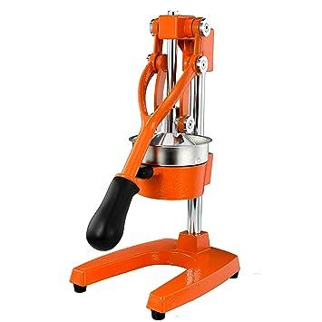 Exprimidor manual de acero inoxidable - Prensa de calidad comercial Exprimidor de naranjas y limones - Extractos Jugo máximo - Base y manija de hierro ...