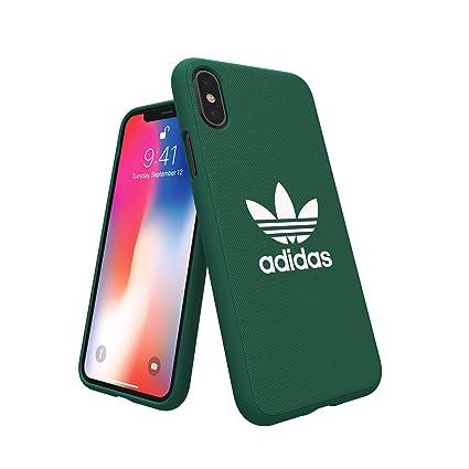 design senza tempo 99b3a 1ac81 adidas Originals Adicolor Moulded Case/Cover for Apple iPhone X (Collegiate  Green)