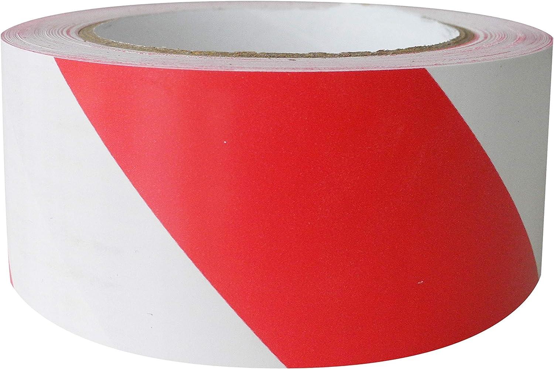 alto 50 mm e lungo 33 mt 1 rt a conf. Carte Dozio Nastro segnalatore adesivo Bianco e Rosso
