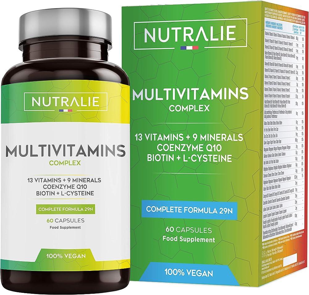 Multivitaminico multiminerale naturale vegano | 9 minerali, 13 vitamine a, d, c, d, e,k