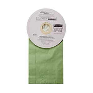 Rubbermaid Commercial Backpack Vacuum Cleaner Bag, 6 Quart, Pack of 10, FG9VBPPB06