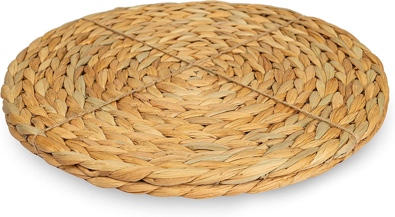 Natural, 13.5 Set of 2 CENBOSS Beautiful Woven Placemats Round Placemats for Dining Table