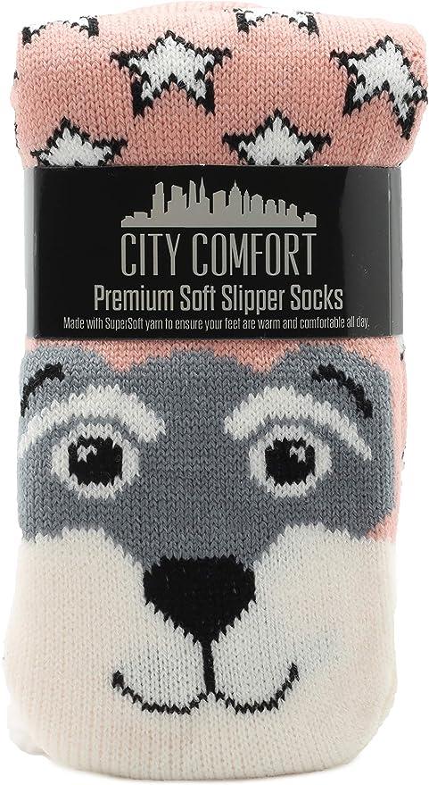 Fluffy Slipper Socks Damen Mädchen Premium Soft Home Socken Größe 4 5 6 7 8 Neuheit Sheep Dog Cat Fluffy Und Pelz Slipper Socke Rosa Hund Bekleidung