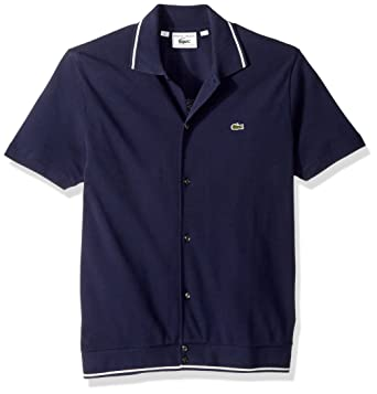 25f1c35c10 Lacoste Men's Short Sleeve '85th Anni' 60's Regular Fit Polo, PH7321, Navy