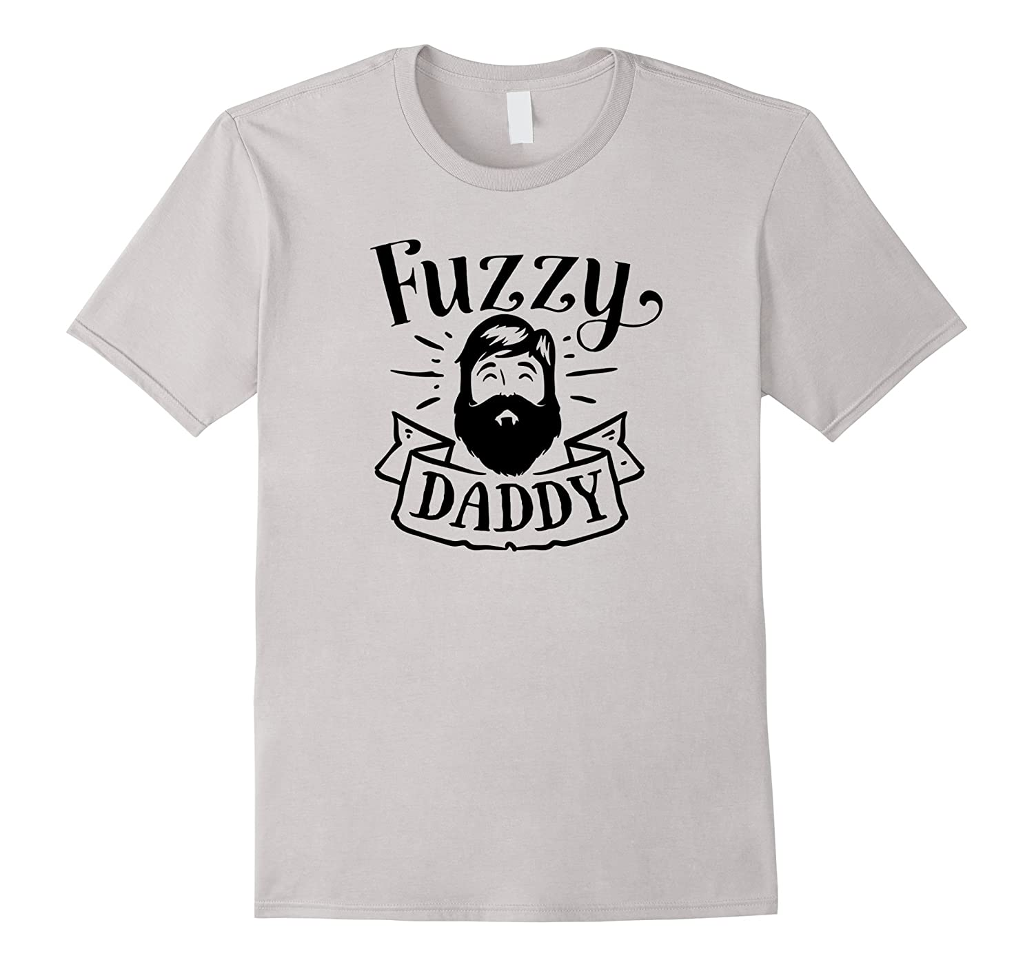Mens Fuzzy Daddy T-Shirt Funny Shirt for Hipster Beard Father Dad-CD