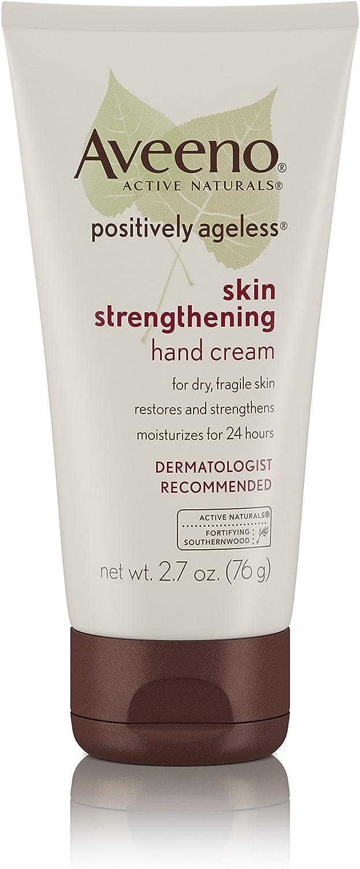 Aveeno Positively Ageless Skin Strengthening Hand Cream For Dry Skin, 2.7 Oz