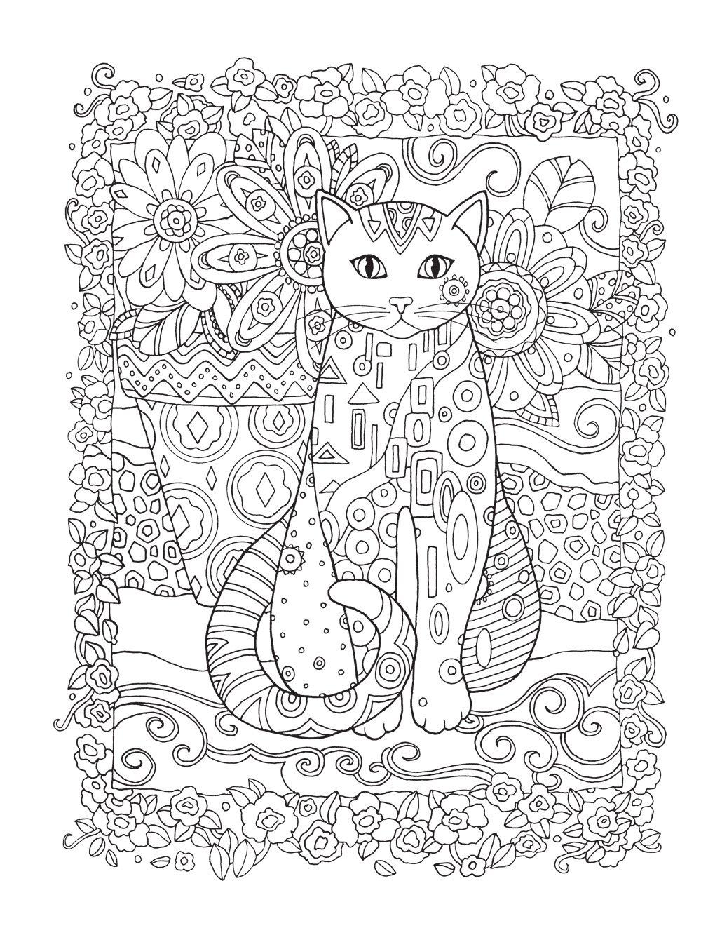 Gatos. O Livro de Colorir (Em Portuguese do Brasil): Marjorie Sarnat: 9788501105165: Amazon.com: Books