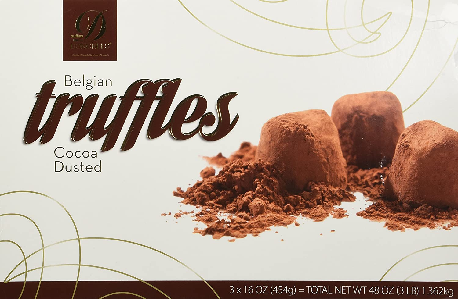 Amazon.com : Donckels Cocoa Dusted Belgian Chocolate Truffles, 3 ...