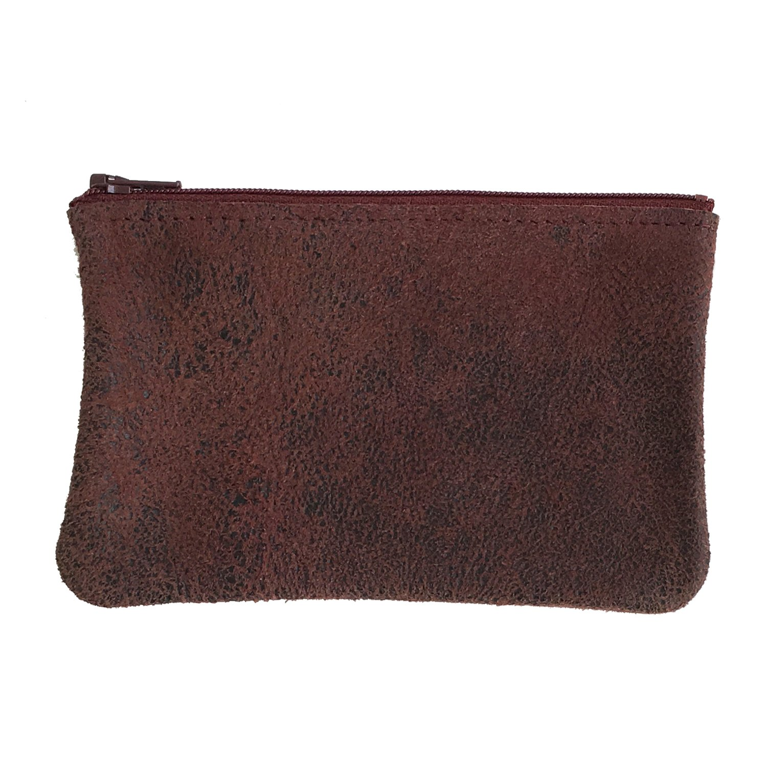 Tracey Tanner Small Zipper Top Pouch - Cabernet Distress
