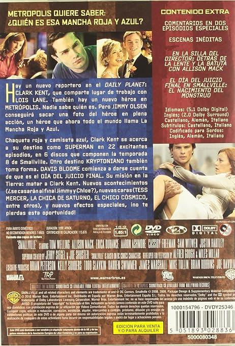 Amazon.com: Smallville 8ª Temporada (Import Movie) (European Format - Zone 2) (2010) Tom Welling; Allison Mack; Cassidy: Movies & TV
