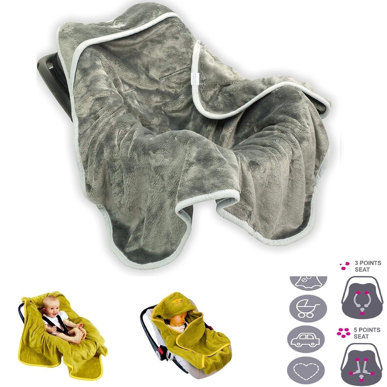 Einschlagdecke für Babys Koala hellgrau 95x95 BabyMatex