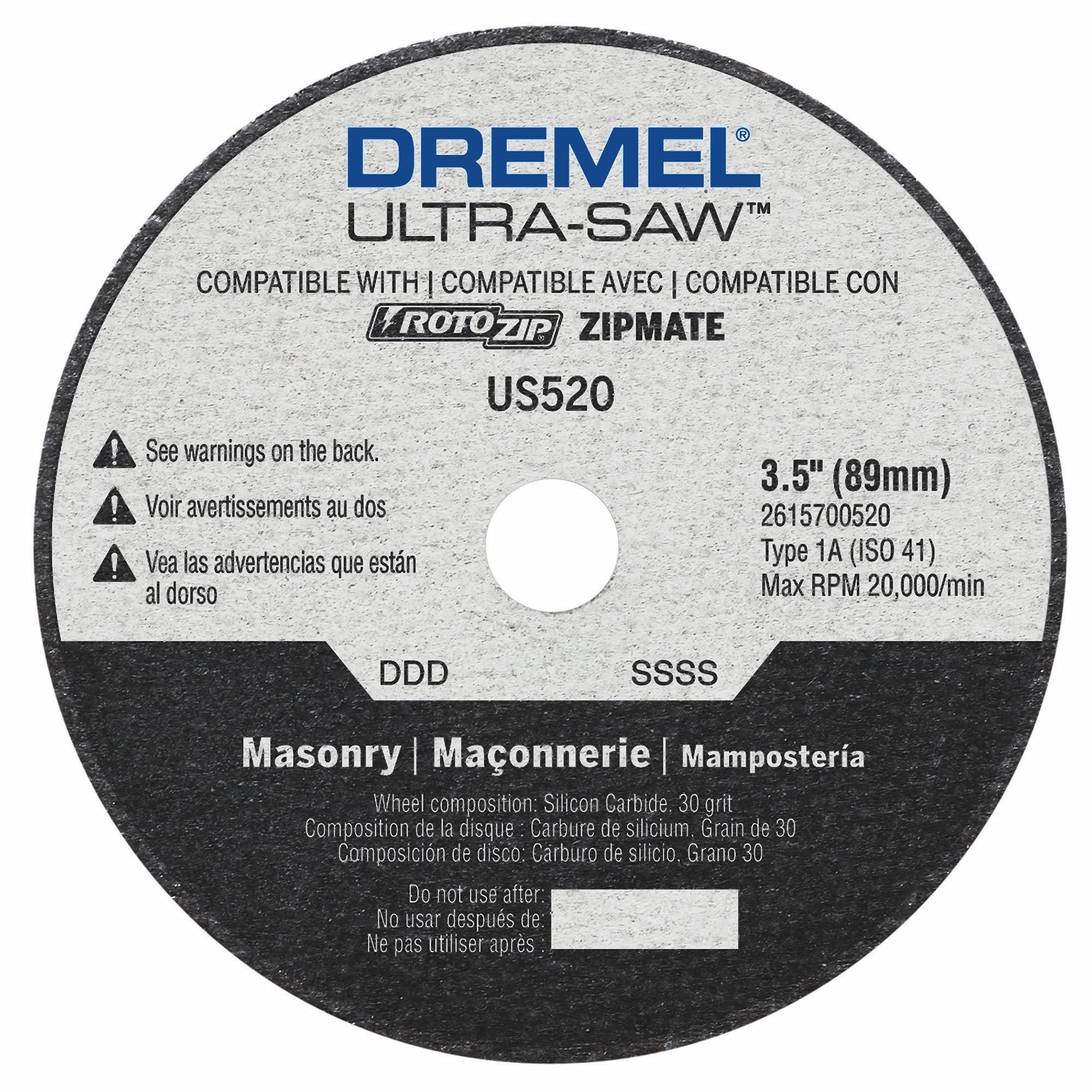 Dremel US520-01 Ultra-Saw 3.5-Inch Masonry Cutting Wheel