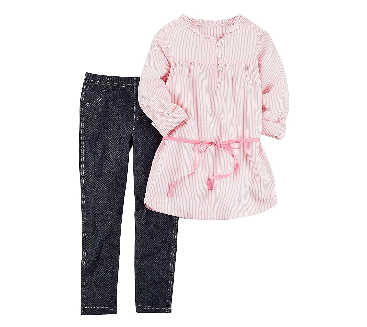 Carters Girls 4-8 Long Sleeve Tunic and Denim Jeggings Set