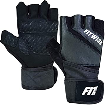WEIGHT LIFTING PADDED FULL LEATHER GLOVES FITNESS EXERCISE TRAINING CYCLING GYM