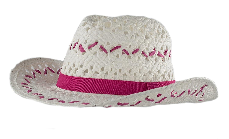 Amazon.com  Handwoven Kids Straw White Cowboy Hat 196a1bc3ddc