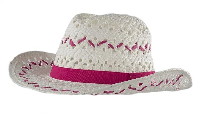 d9d366c10d6 Amazon.com  Handwoven Kids Straw White Cowboy Hat