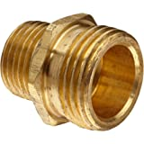"""Anderson Metals Brass Garden Hose Fitting, Connector, 3/4"""" Male Hose ID x 1/2"""" Male Pipe"""
