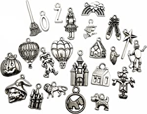 The Wizard of Oz Charms-100g (About 70-75pcs) Craft Supplies Mixed Pendants Beads Charms Pendants for Crafting, Jewelry Findings Making Accessory for DIY Necklace Bracelet (M038)