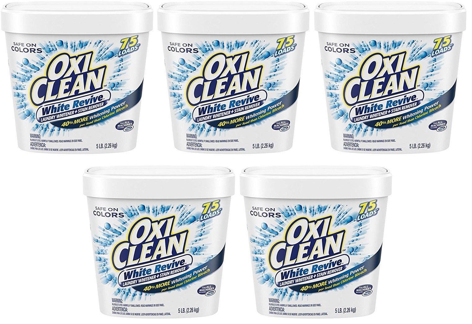 Oxi Clean 5 lb White Revive Powder (Pack of 5)