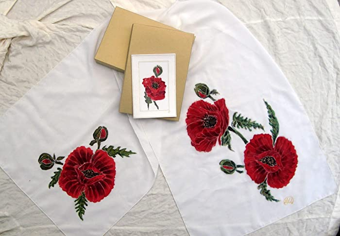 Amazon sale15 offpoppies silk scarfred poppy flowers sale15 offpoppies silk scarfred poppy flowers scarf mightylinksfo