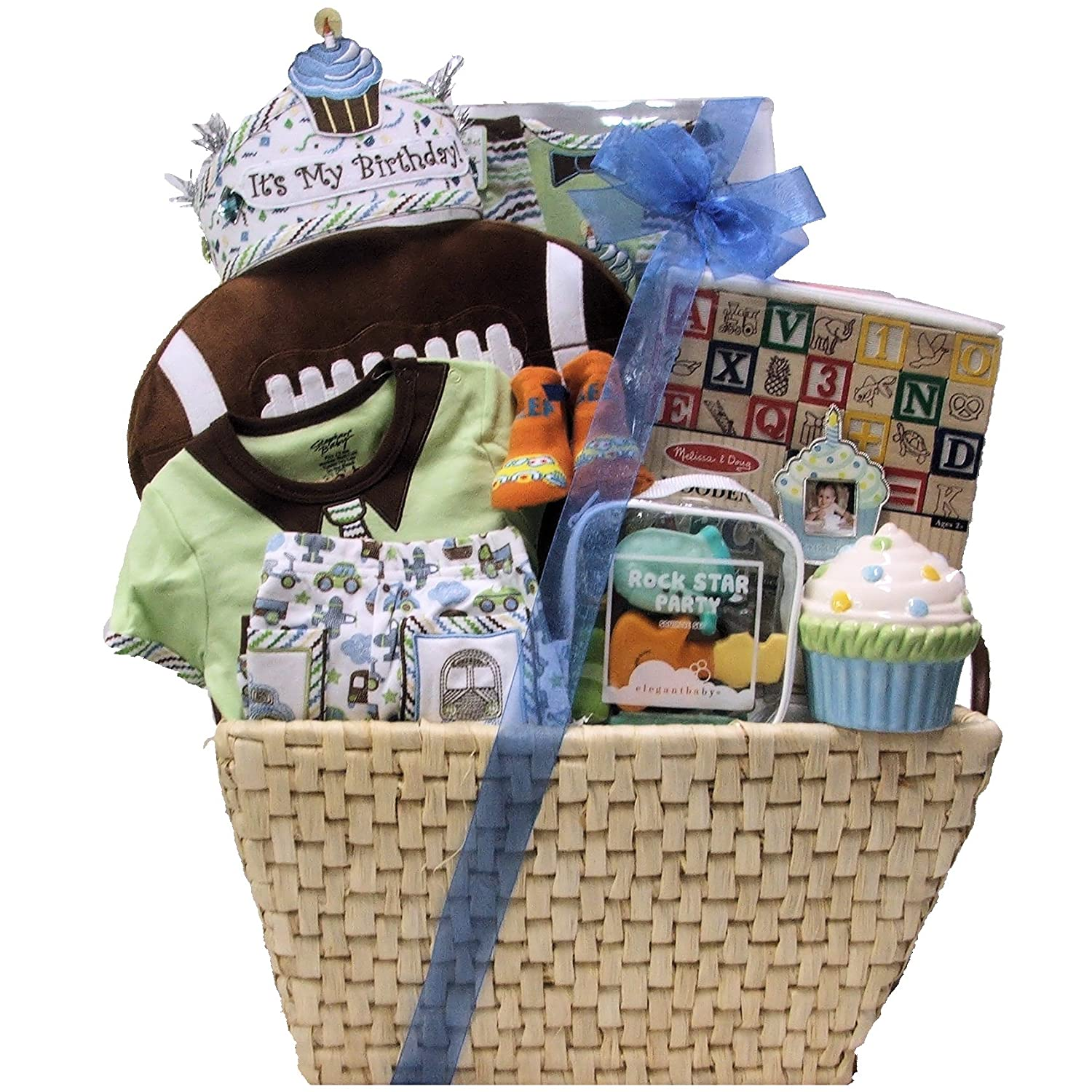 Amazon Great Arrivals Baby Birthday Gift Basket Babys 1st Boy Large Gourmet Snacks And Hors Doeuvres Gifts Grocery Food